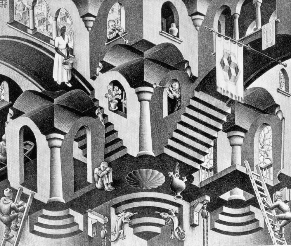 guardian angel bridge lithograph german