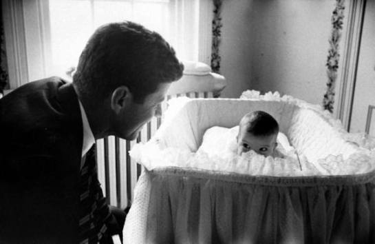 JFK and Daughter, 1958